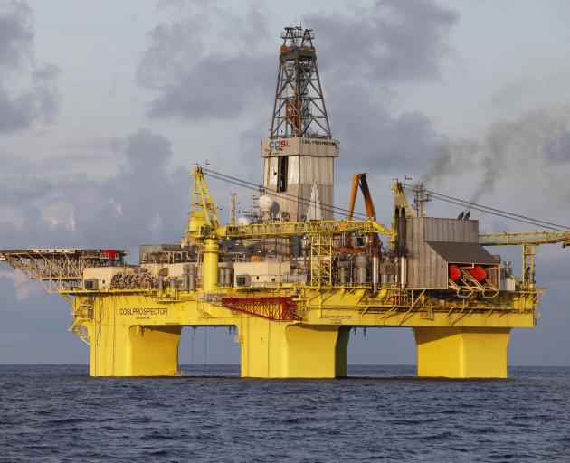 The OMV drilling rig COSL Prospector. Photo: Supplied.
