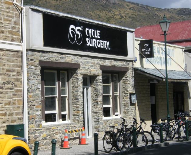 Branding at the Cycle Surgery building in Clyde has gone up. PHOTO: ADAM BURNS
