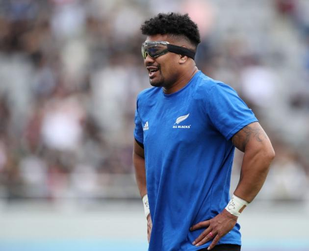 Ardie Savea began wearing goggles at last year's World Cup. Photo: Getty Images
