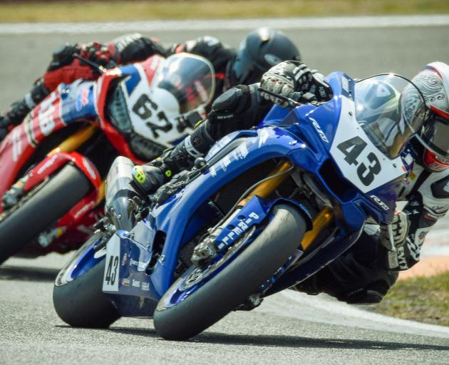 Alastair Hoogenboezem (No 43) and Mitch Rees (No 62) will race in the premier superbike class...