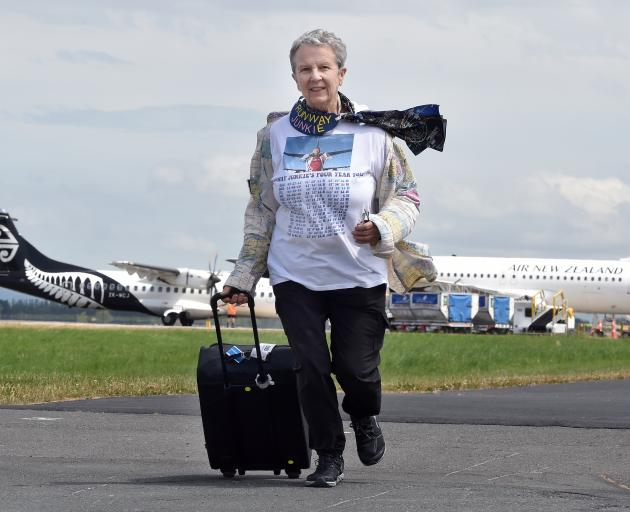 Travelling the world and running one runway at a time is retiree Carol Thomas, of Schaumburg, Chicago. Photo: Stephen Jaquiery