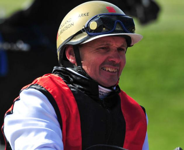 Ricky May drives Terror to Love at the New Zealand Trotting Cup at Addington Raceway in 2012....