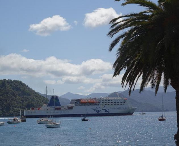 An Interislander ferry at Picton. Photo: RNZ file/Tracy Neal