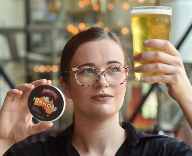 Emerson's Brewery duty manager Ireland Speirs-Donaldson raises a glass of the brewery's Idahose...
