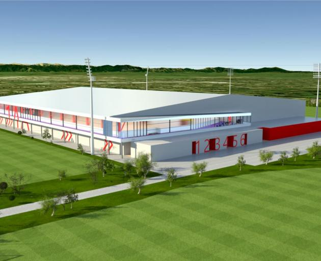 The indoor court facility will include eight courts. Image: Selwyn District Council