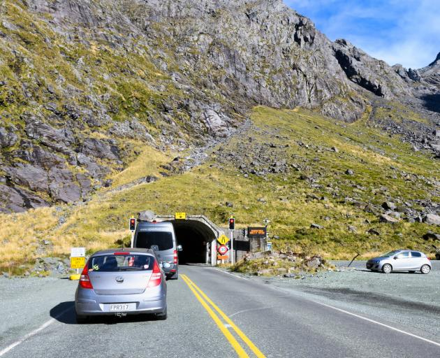The Homer Tunnel is the only road access to Milford Sound, a popular tourist destination. Photo:...