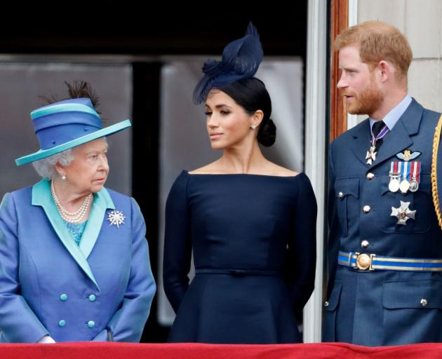 Prince Harry and Meghan did not consult the Queen before making public their plans. Photo: Getty...