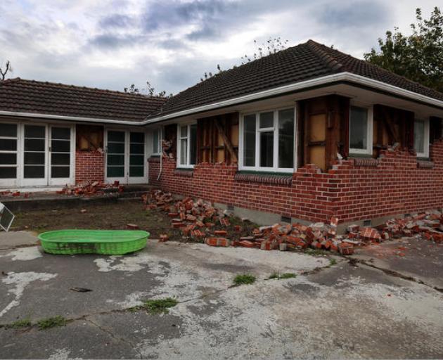 Empty house in the red zone. Photo: RNZ/Diego Opatowski