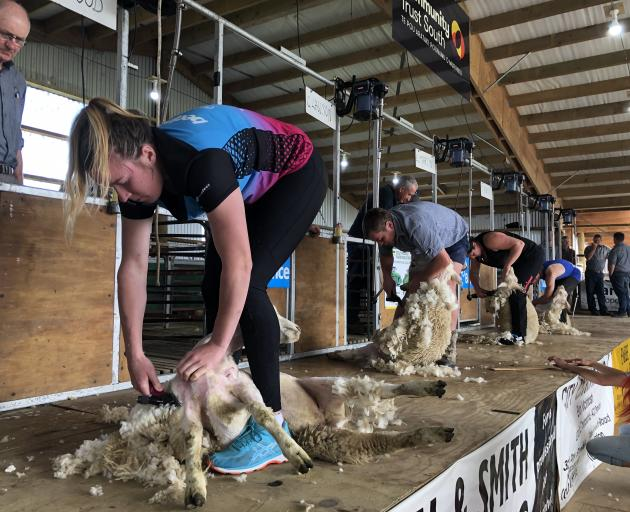 Southern Steel team member Abby Erwood entered the novice shearing competition at the Winton A&P...