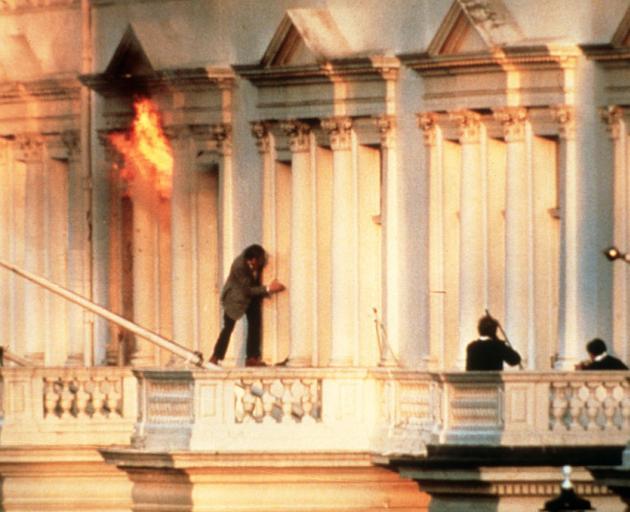 The Iranian Embassy Siege, London, 1980. Photo: Hulton-Deutsch Collection/CORBIS/Corbis via Getty...