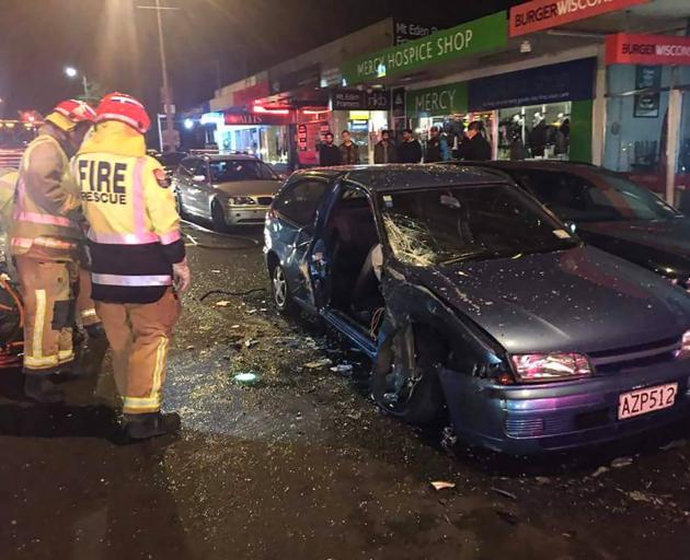 The scene of a crash in which Leah Abrams was hit by a driver just over the breath alcohol limit in 2015. Photo: Supplied via NZ Herald