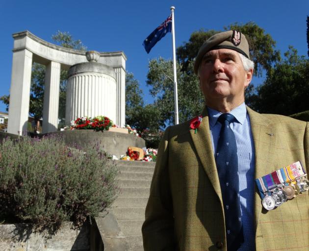 Former British SAS serviceman Tom MacDonald at the North Otago Returned and Services Association...
