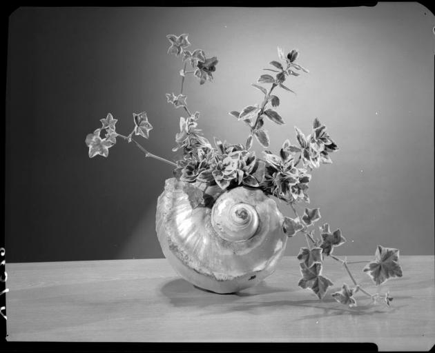 A floral display from 1955.