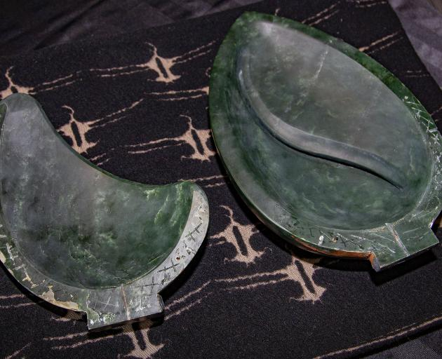The recovered pounamu. Photo: Geoff Sloan
