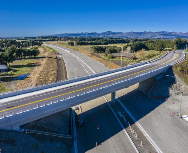 Once open, the Christchurch southern motorway will halve the time it will take to get from the...