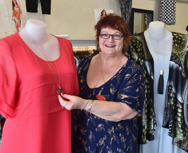 Paint the Town Red owner Diane McKenzie at her Dunedin shop in St Andrew St. Photo: Gerard O'Brien