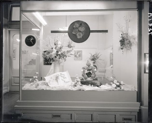 Miss Reid's window in 1957. Photos: The Hocken Library