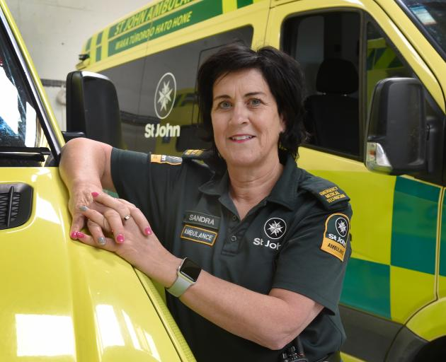 Every day on the job is different for St John emergency medical technician Sandra Wilson. Photo: Gerard O'Brien