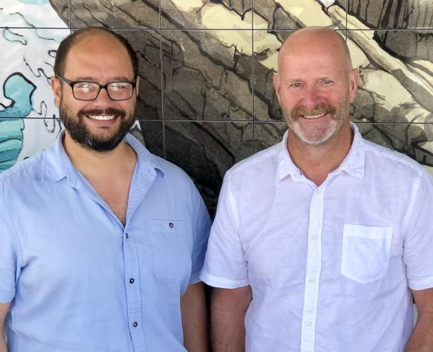 Kyran Rei and Justin Lemmens regularly fly from Wellington to Dunedin to steer The Craft Meat Company brand into a new era. Photo: Supplied