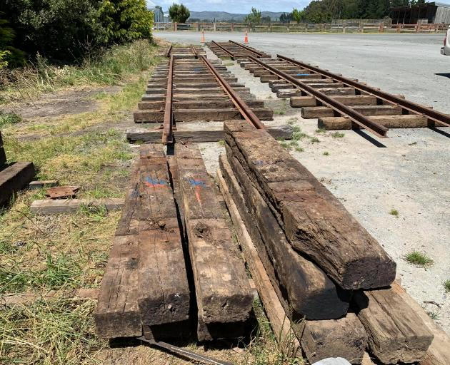 The track sets that are to hold the soon-to-be recovered 1885 V Class steam locomotives are to be...
