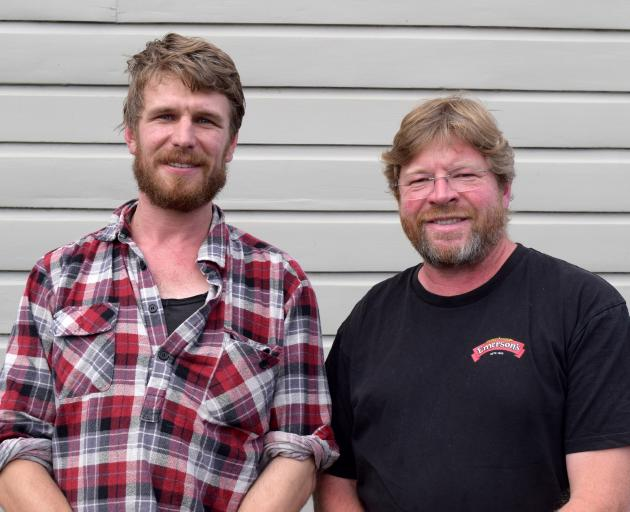 Project Steam chairman Clark McCarthy (left), of Dunedin, and treasurer Richard Emerson, of...