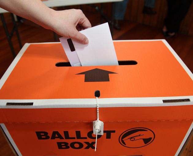 Voters will be able to enrol and vote on election day next year. Photo: ODT files