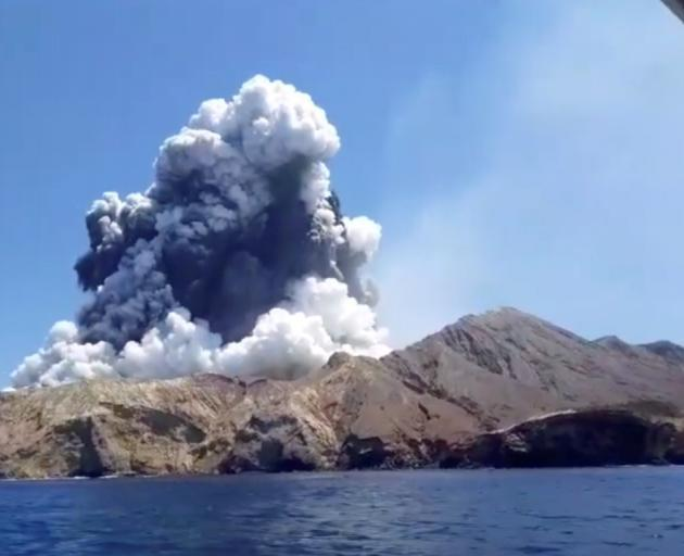 White Island during its eruption. Photo: Reuters