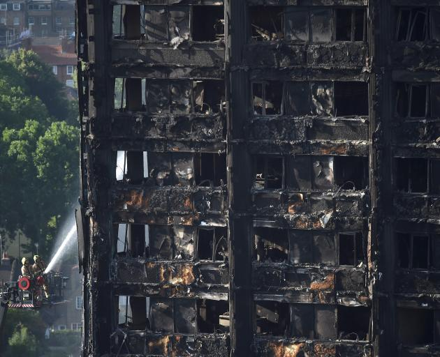 The Grenfell Tower block was badly damaged on June 16, 2017. Photo: Reuters