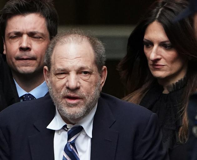 Harvey Weinstein (centre) with lawyer Donna Rotunno. Photo: Reuters