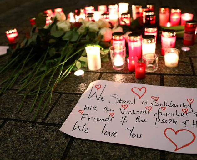 A vigil was also held in the capital, Berlin. Photo: Reuters
