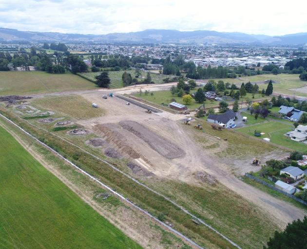 The first sods of earth have been turned on the new 20ha Grange Lifecare Village construction site in Mosgiel. Photo: Stephen Jaquiery