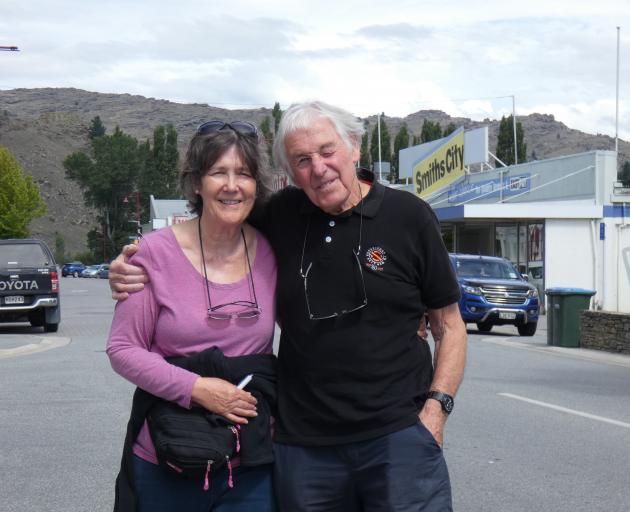 Ron Sverdloff and partner Jackie Jackson-Smith, of Essex, England, revisit Alexandra's Centennial...