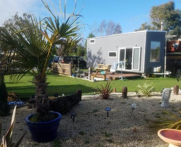Alan Dall's Amberley tiny house on wheels. Photo: supplied