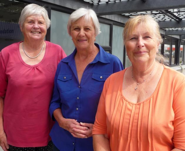 Birthright Ashburton family visitors (from left) Ruth Logan and Lyn Stuart with field worker...