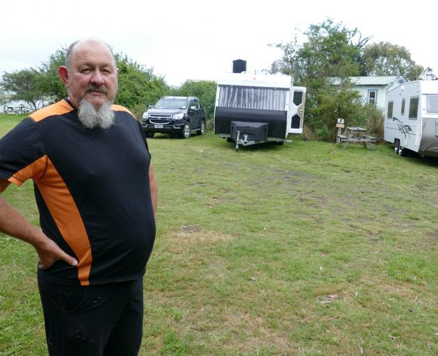 Newhaven Holiday Park owner Grant Gabolinscy says a Catlins freedom camping trial this summer has failed to boost guest numbers at commercial campgrounds such as his. Photo: Richard Davison