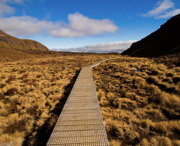 Part of the Tongariro Crossing. Photo: DOC