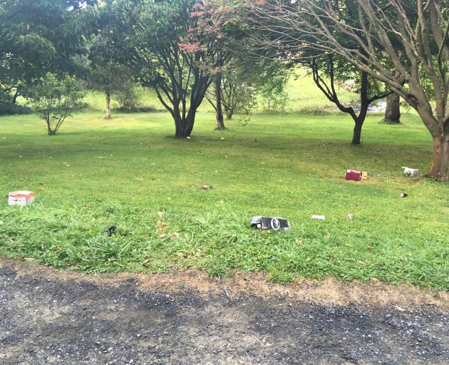 Some of the mess left  in the Botanic Garden  during Orientation Week. PHOTO: KIMBERLY SMITH