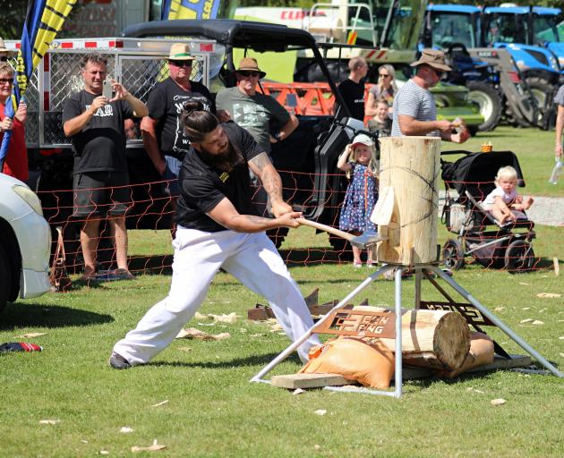 Brad Pako in action at the Central Otago A&P Show in Omakau. PHOTO: SUPPLIED/ HARLEY PHOTOGRAPHY