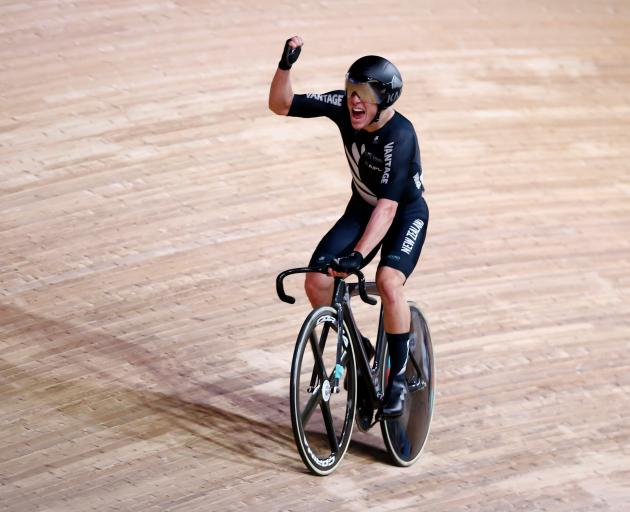 Southland's Corbin Strong celebrates after winning in Berlin. Photo: Reuters