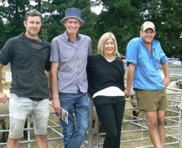 Hayden, Stuart, Teresa and Nicholas Sinclair at the stud dispersal sale. PHOTO: SUPPLIED