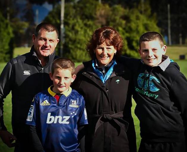 The Crossan family: Gavin, Ryan, 11, Tracy and Hamish, 13. Hamish is the youngest living liver...