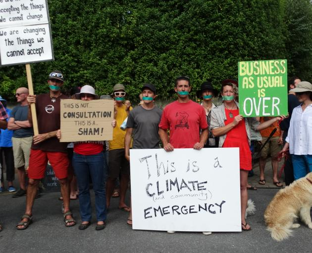 Most protesters were there to make a point about climate change. Photo: Mark Price