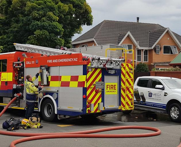 A house fire in Harewood. Photo: Geoff Sloan
