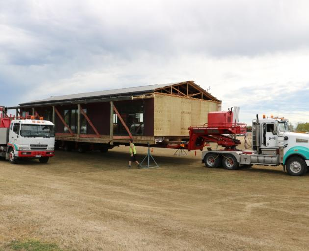 The Rolleston Rugby Football Club's clubrooms will be moved to Foster Park on Monday night. Photo...