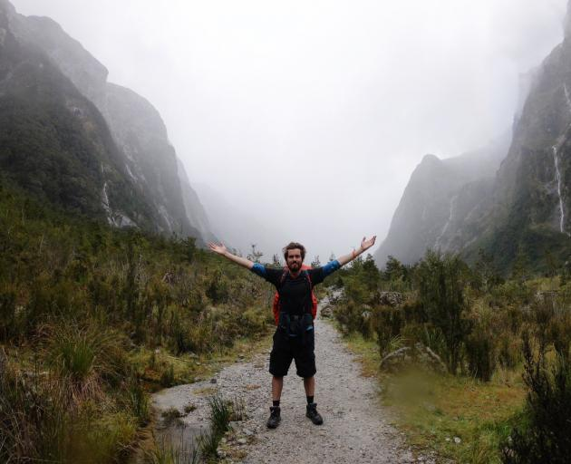 In his free time Jed Joyce enjoys ticking off some of the great walks of New Zealand. Here he is...