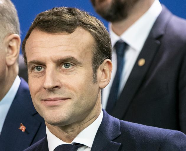 At least partly cosmetic, the presidents of France, Emmanuel Macron (above)  and the US, Donald...
