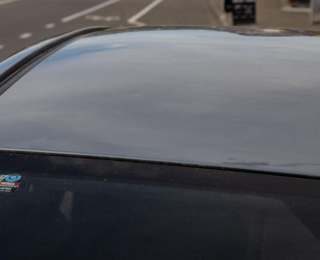 Can you spot the hail damaged on this car roof? Photo: Geoff Sloan
