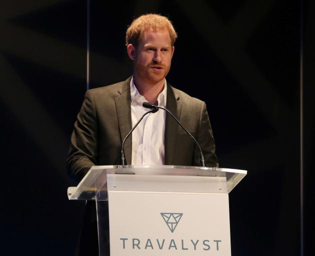 Prince Harry spoke at a sustainable tourism summit in Edinburgh on Wednesday. Photo: Reuters