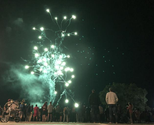 This year's fireworks display in Te Anau for the new year attracted thousands to the lakefront at...