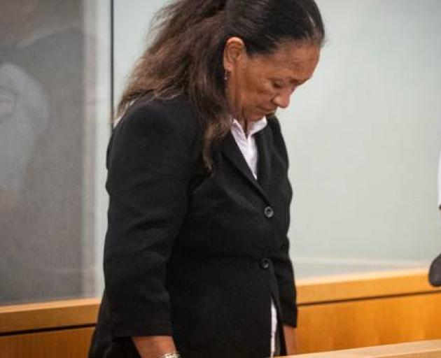 Karen Anne Ruddelle in the High Court at Auckland during her trial for the murder of her partner Joseph Ngapera. Photo: NZ Herald